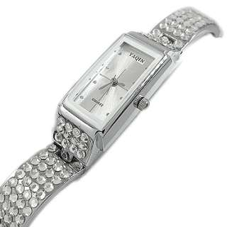 fashion party jewelry White Topaz Gold Plated On Stainless Steel Wrist
