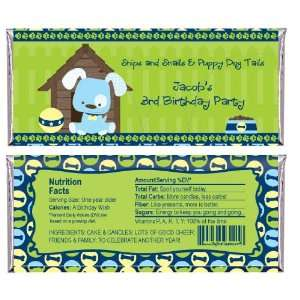 Boy Puppy Dog   Personalized Candy Bar Wrapper Birthday
