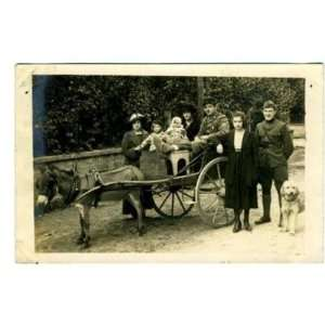 Soldiers & Donkey Cart World War 1 France RPPC: Everything