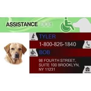 ASSISTANCE DOG ID Badge   1 Dogs Custom ID Badge   Design