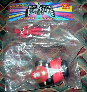 RED RANGER WITH APE NINJAZORD POWER RANGERS McDONALDS