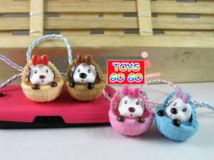 DOG Basket Bag Cell Phone iphone Strap Charm,Kid,Party Favor Supply