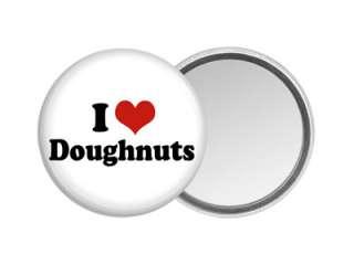 DOUGHNUT POCKET HAND MIRROR Design #2 Love Heart Donut Sweet Snack