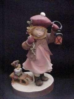 Original Lisi Martin Hand Painted Girl Figurine Dolfi