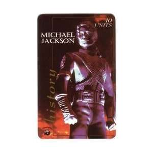 Collectible Phone Card 10u Michael Jackson History Album Cover