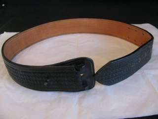 DON HUME BLACK LEATHER POLICE HOLSTER BELT