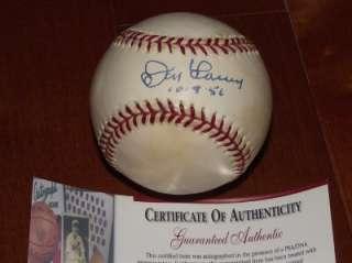 Don Larsen Autograph Baseball Yankees World Series Perfect Game PSA