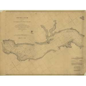 1862 Civil War map Potomac River to Chesapeake Bay Home & Kitchen