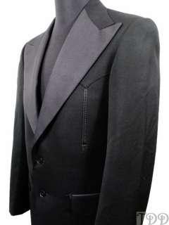 rrl double rl men s black nashville tuxedo coat jacket size 40 r 40 r