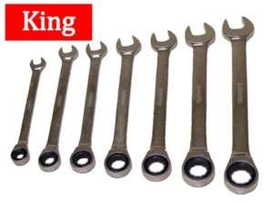 King Tools 7 Pc Ratchet Wrench Ratcheting Wrench SAE