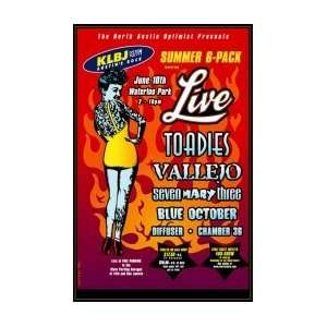 LIVE   Limited Edition Concert Poster   by Billy Perkins