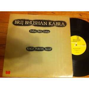 raga puriya indian slide guitar LP: BRIJ BHUSHAN KABRA