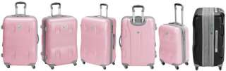 Heys USA PINK ECO Expand Spinner Luggage Set PiggyBacks 806126014194