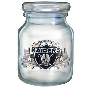 Oakland Raiders Logod Candy Jar   NFL Football Fan Shop Sports Team