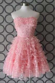 Betsey Johnson Evening Party Sweet Dress Pink Sz2 4 6 8