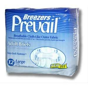 Breezers Adult Briefs   Large PVB 013 Case: Health & Personal Care