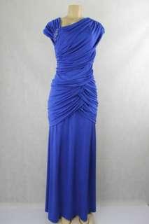 Tadashi Shoji women dress full length electric blue size 1X