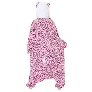 Hello Kitty Costume Kigurumi Heart Leopard Anime Pajama