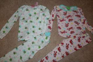 Huge Lot Girls 4T Pajamas EUC (see photos in ad) Carters Old Navy Elmo