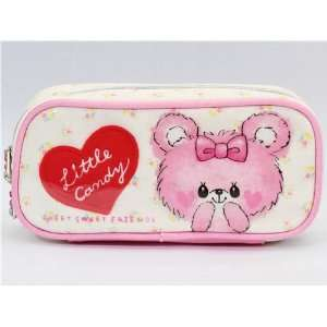 cute pink plush bear pencil case with bunny kawaii Toys