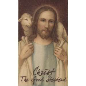 Christ The Good Shepherd Holy Prayer Card 23rd Psalm