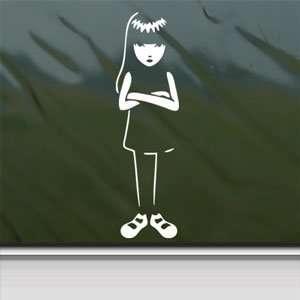 EMILY STRANGE GIRL White Sticker Car Vinyl Window Laptop