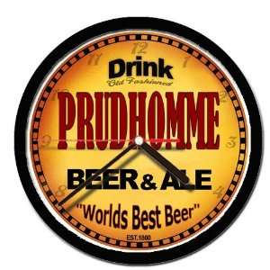 PRUDHOMME beer and ale cerveza wall clock: Everything Else