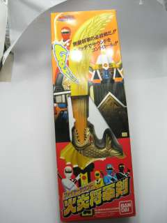 Power Rangers Ninja Sentai Kakuranger Flaming Shogun Sword Bandai USED