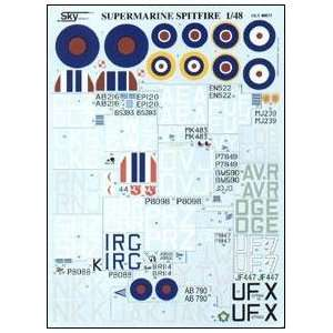 Decals 1/48 Spitfire Aces English and Canadian Decals Home