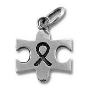 Autism Awareness Puzzle Ribbon Sterling Silver Charm