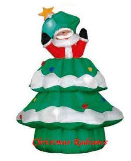 Gemmy 6.5ft Tall Animated Airblown Santa Popping Out Of Christmas Tree