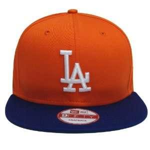 Los Angeles Dodgers New Era Retro Snapback Cap Hat Orange