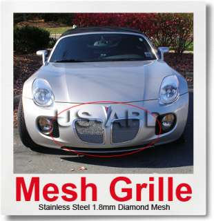 06 08 Pontiac Solstice Stainless Mesh Grille Insert