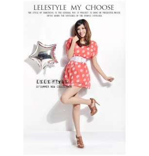 CHIC POLKA DOT CHIFFON MINI DRESS + BELT LY2034