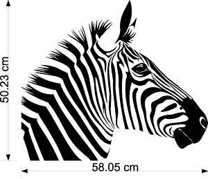 Zebra Head Side Vinyl Wall Art Stickers Decals Transfer