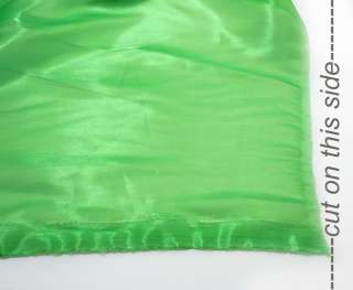 k40 Grass Green Mirror Organza Fabric Sheer by Yard