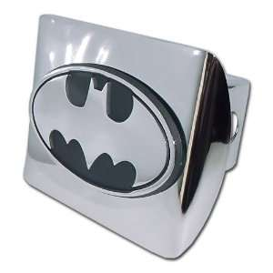 Batman Bright Polished Chrome with 3D Bat Emblem Metal