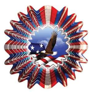 Iron Stop 10 Animated American Flag/Eagle Wind Spinner