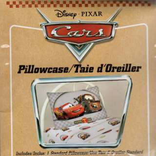 Disney Pixar CARS Standard Pillowcase Pillow Case   Lightning McQueen