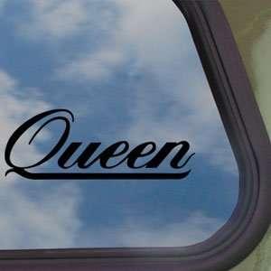 Queen Black Decal Rock Band Car Truck Bumper Window