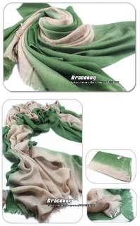 NEW Fashion Two Tone Color Cotton Pashmina Cashmere Silk Shawl Wrap