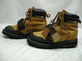 Paws No Slip tanned Leather Roofing Boots Mens sz 7 M water repellent