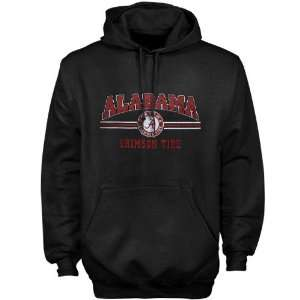 Alabama Crimson Tide Black Midfield Hoody Sweatshirt
