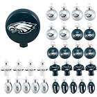PHILADELPHIA EAGLES OFFICIAL LOGO BULB CHRISTMAS ORNAMENT 5 PACK