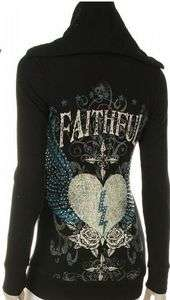 Black Faithful Wings Stones Tattoo Jr Plus Hoodie T shirt