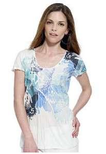 Calvin Klein Painted Lady Shirt Blouse Womens Petite S $40 NWT