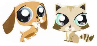 LITTLEST PET SHOP DOG & CAT WALL STICKERS BORDER CHARACTER CUT OUTS