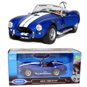 Shelby Cobra 427 S/C Convertitble 124 Scale (Blue) Toys