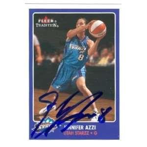 Jennifer Azzi Autographed Basketball Card (Utah Starzz