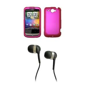 HTC Wildfire G8 Premium Hot Pink Rubberized Snap on Case